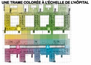 De la couleur, de l'ailleurs, de l'inattendu, V8 designers, Nouvel hôpital civil, 2011-2013