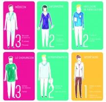 Ra-conte : jeu de cartes présentant le personnel aux consultations pédiatriques