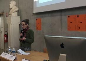 Colloque couleur et soin. Décembre 2019, ENSAD Nancy. Conclusion par Anne Régnault, designer. Crédit photo : La Fabrique de l'hospitalité.