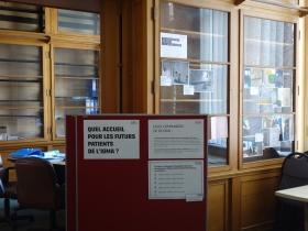 Installation d'un laboratoire ouvert à l'entrée du CARGO sur le site de l'Hôpital Civil