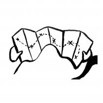 Illustration à l'encre de chine pour les 10 principes de la Récupération rapide après chirurgie (RAAC) : Une équipe impliquée dans le programme. Création, Anne-Laure Desflaches et Anne Régnault, La Fabrique de l'hospitalité.